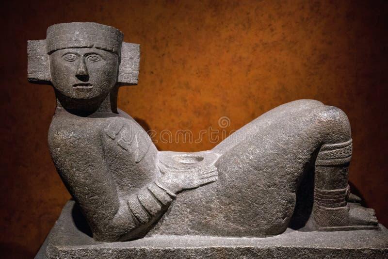 中美洲Chac-Mool雕象 免版税库存照片