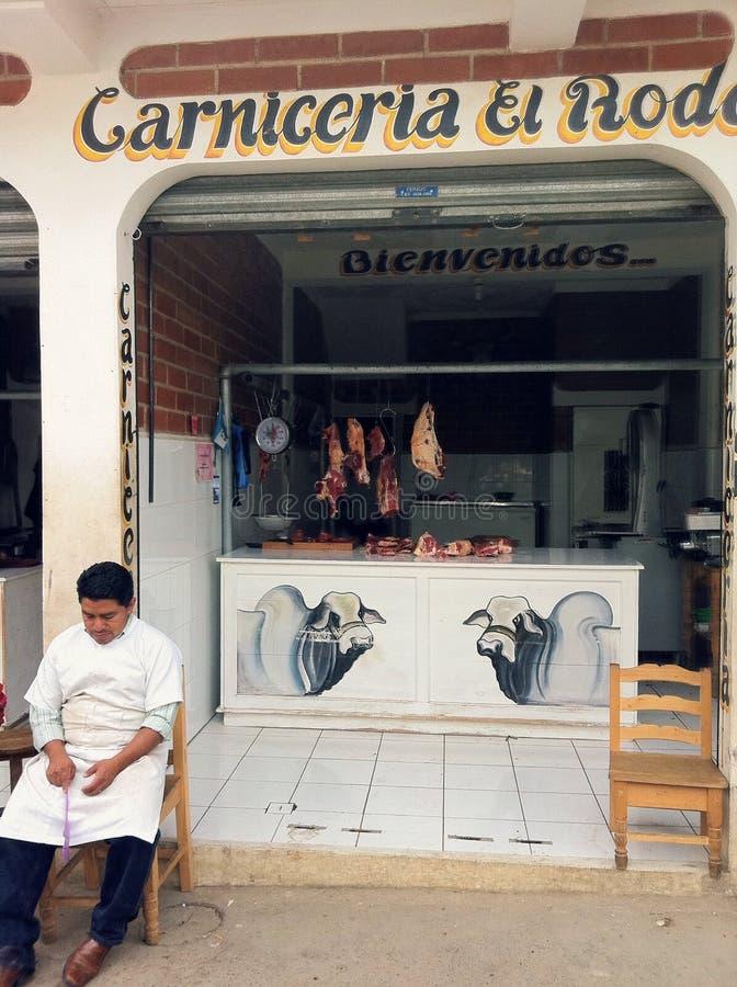 中美洲肉店 库存图片