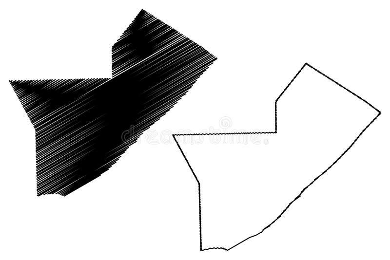 中部索马里,非洲之角Shabelle地区联邦共和国地图传染媒介例证,杂文剪影中间Shabelle地图 皇族释放例证
