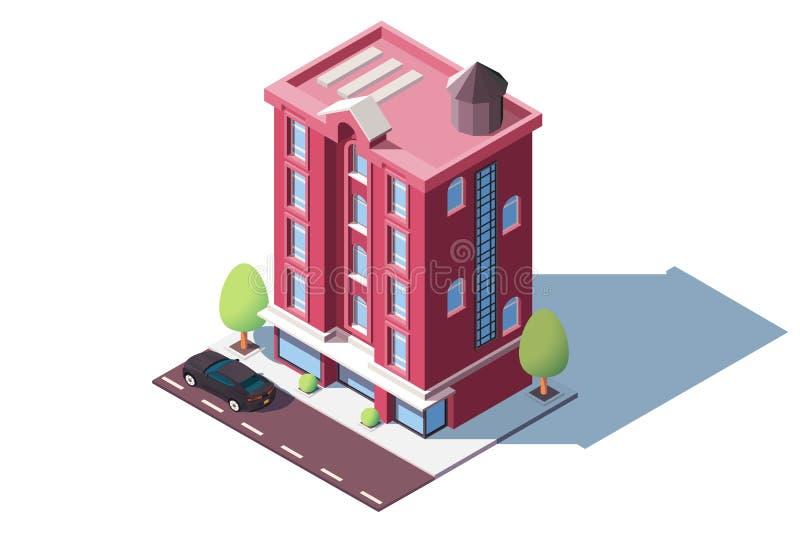 中间上升都市房子 向量例证