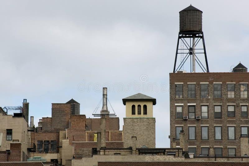 中间地区nyc地平线 库存照片