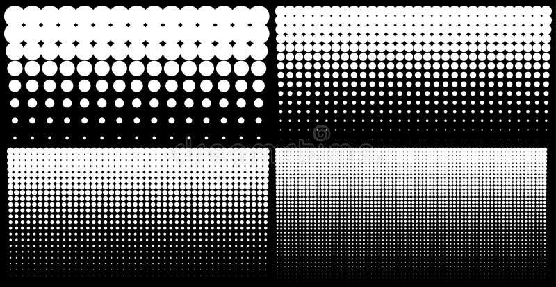中间影调套垂直的梯度加点背景,使用半音光点图形的水平的模板 向量 皇族释放例证
