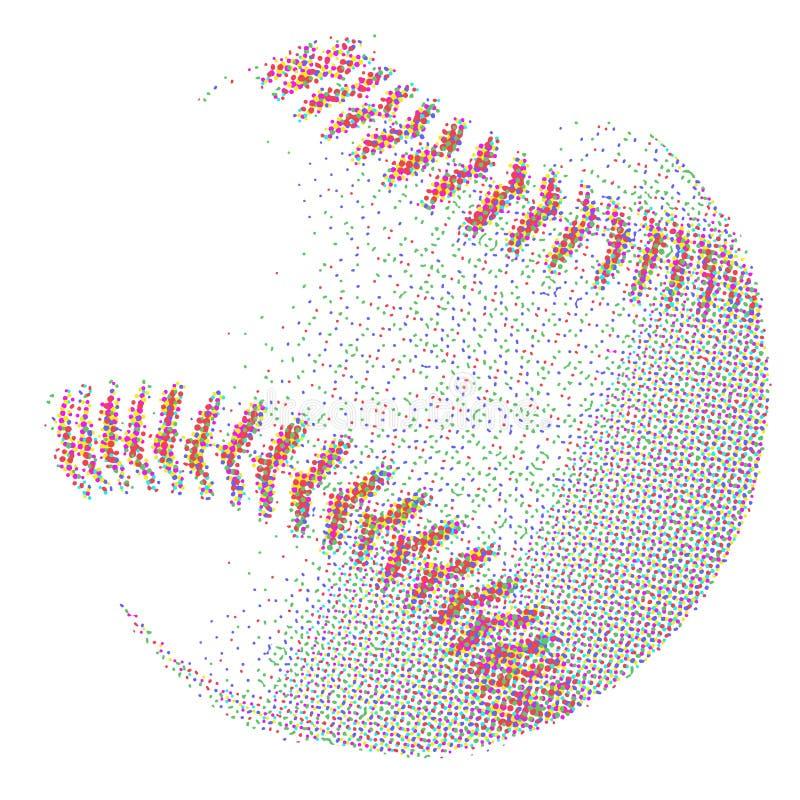 中间影调棒球 向量例证