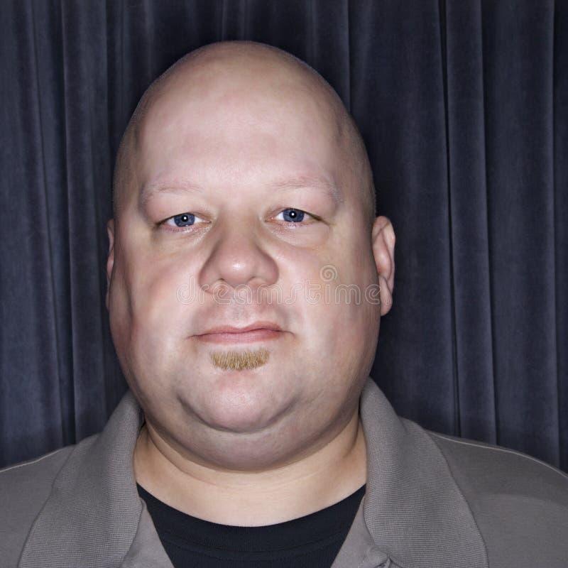 中间成人秃头的人 图库摄影
