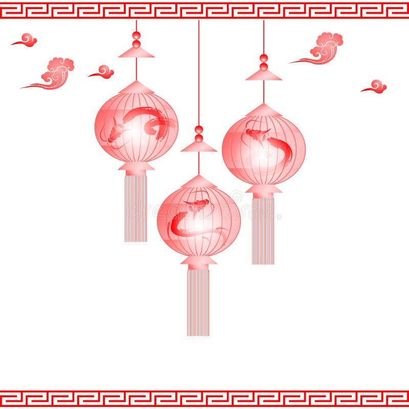 中间秋天中国节日的灯笼 皇族释放例证