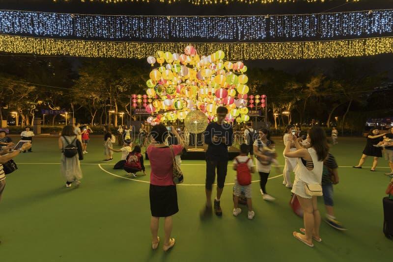 中间秋天节日在香港,中国 免版税库存照片