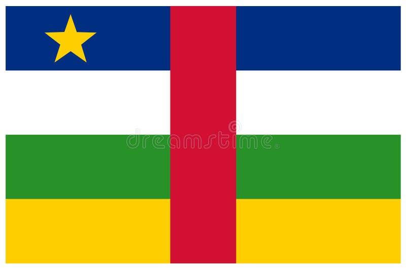 中非共和国旗子-横幅,非洲,国家 库存例证