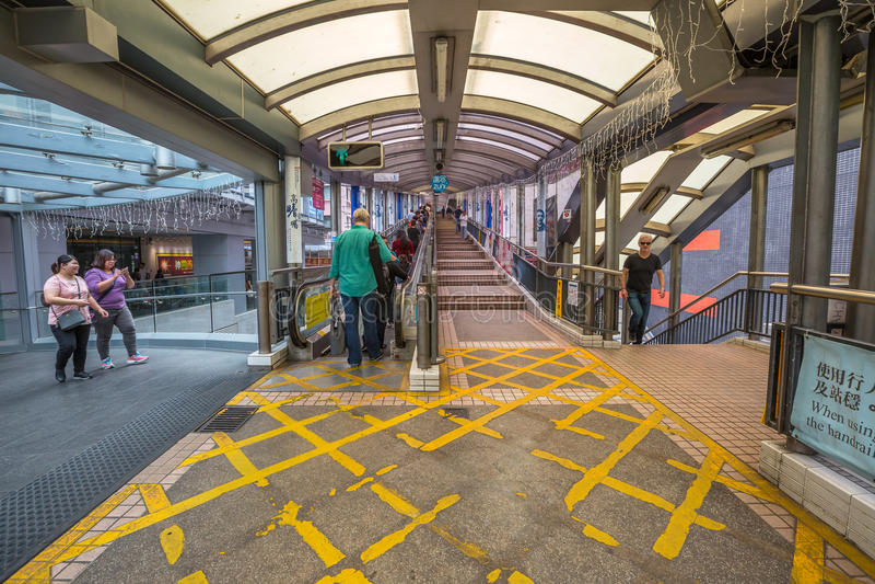 中间级自动扶梯香港 免版税库存照片