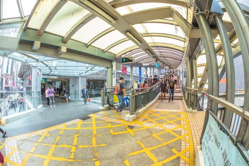 中间级自动扶梯香港 免版税库存图片