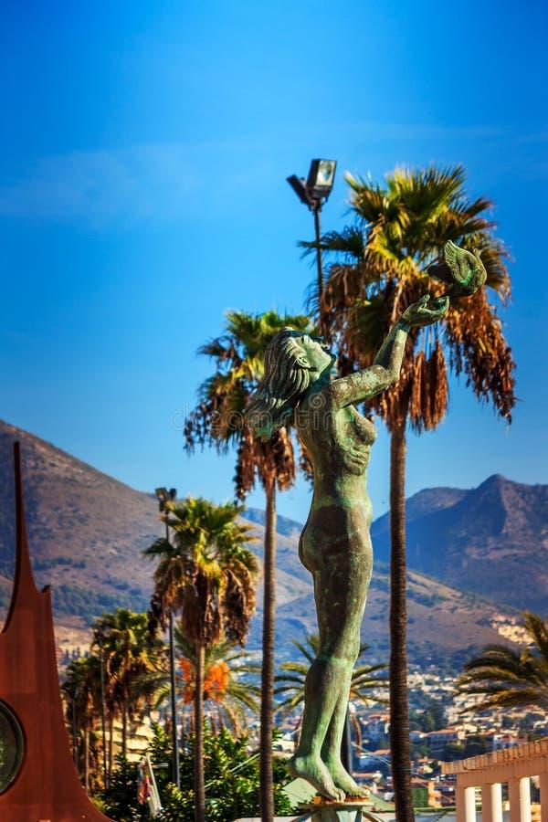 丰希罗拉,在马拉加,西班牙附近的度假胜地 免版税库存照片