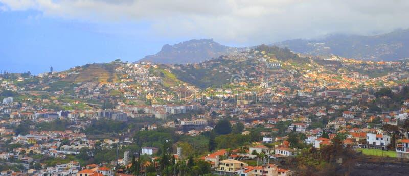 丰沙尔看法在马德拉岛海岛上的 库存图片