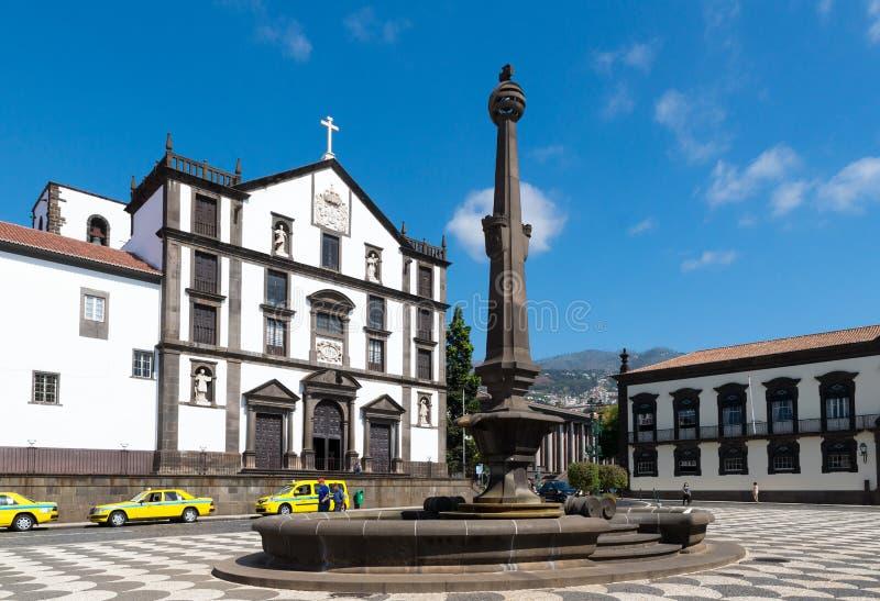 丰沙尔,葡萄牙- 2017年9月7日:历史PR的看法 免版税库存照片