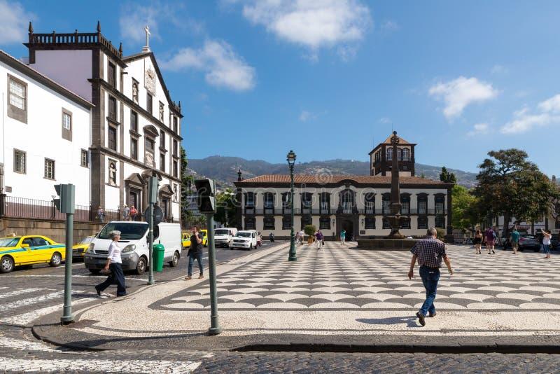 丰沙尔,葡萄牙- 2017年9月7日:历史PR的看法 库存图片