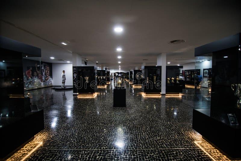 丰沙尔,马德拉,葡萄牙- 2018年7月:克里斯蒂亚诺罗纳尔多佩斯塔纳哥斯达黎加旅馆和博物馆在丰沙尔江边o被生动描述 免版税库存图片