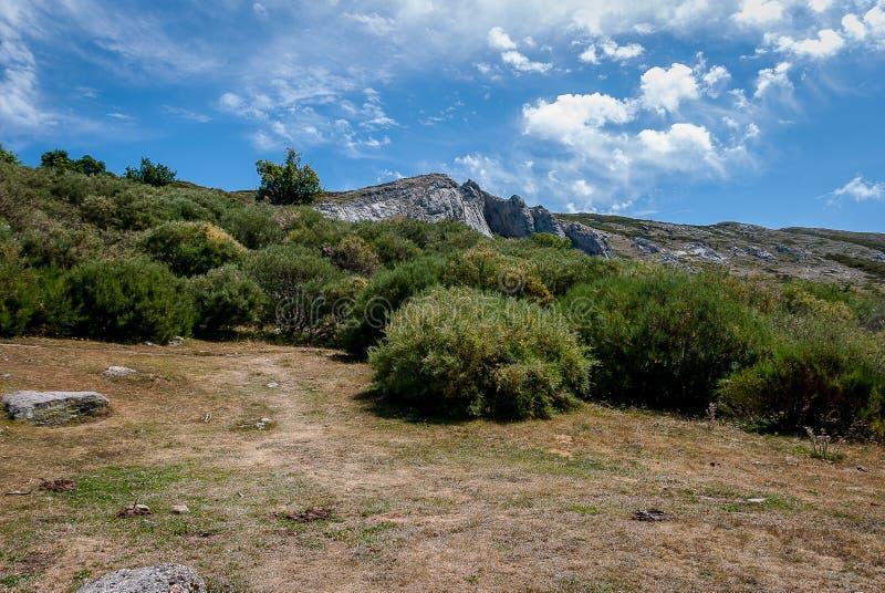 丰特斯Carrionas国立公园的风景  帕伦西亚 免版税库存照片