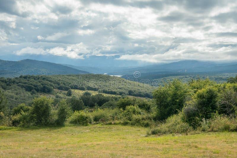 丰特斯Carrionas自然公园的风景  帕伦西亚 库存图片