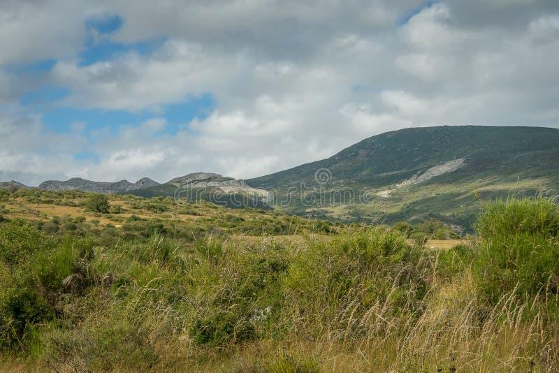 丰特斯Carrionas自然公园的风景  帕伦西亚 免版税图库摄影