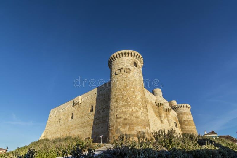 丰特斯de Valpero城堡  库存照片