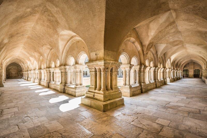 丰特莱隐修院联合国科教文组织世界遗产名录站点,伯根地,法国 库存照片