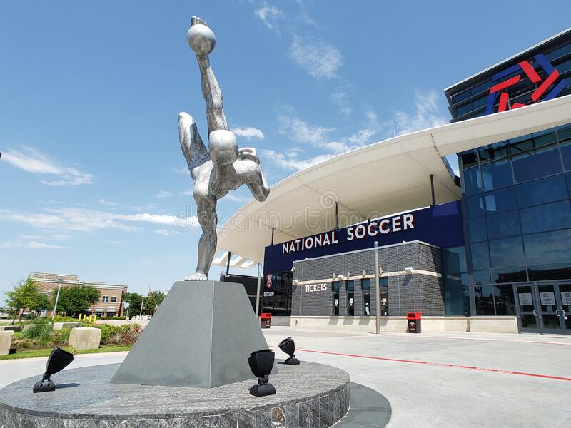 丰田足球中心在德克萨斯州弗里斯科市建成 库存图片