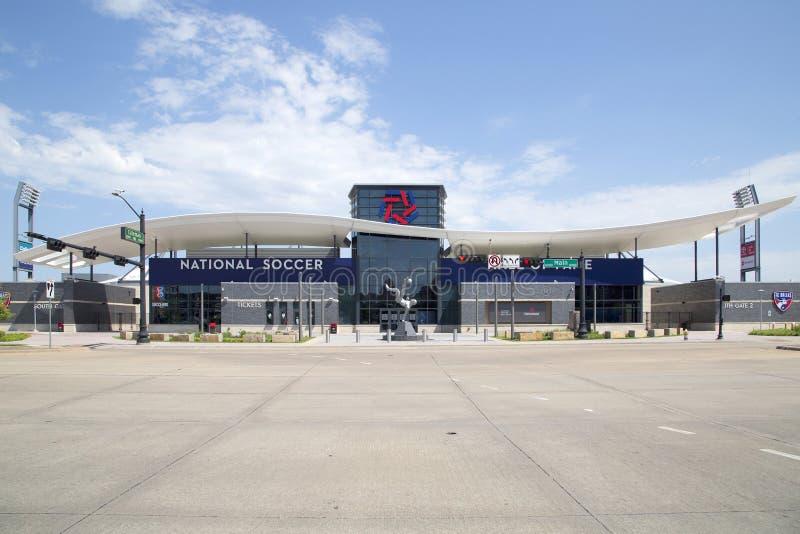 丰田足球中心在美国德克萨斯州弗里斯科市 免版税库存图片
