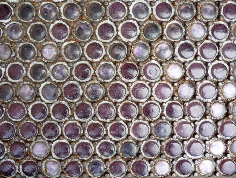 串珠的世纪玻璃第十九视窗 免版税库存照片