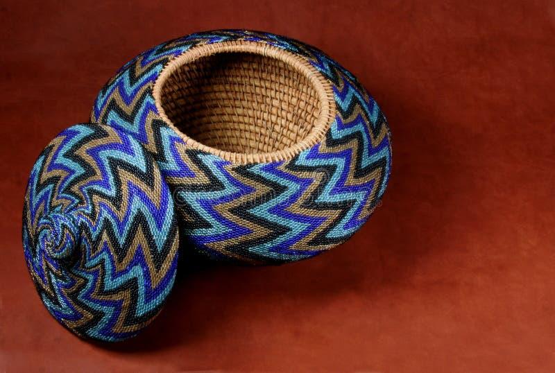 串珠的篮子 图库摄影