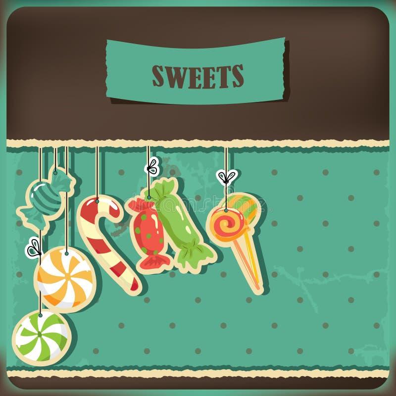 串起甜点 向量例证
