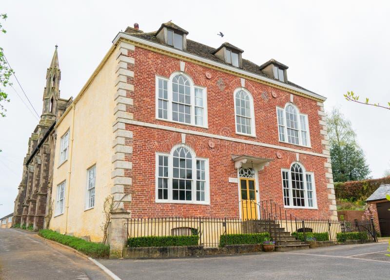 临时房屋议院,一个格鲁吉亚列出的大厦在边缘,格洛斯特郡下的Wotton 库存照片