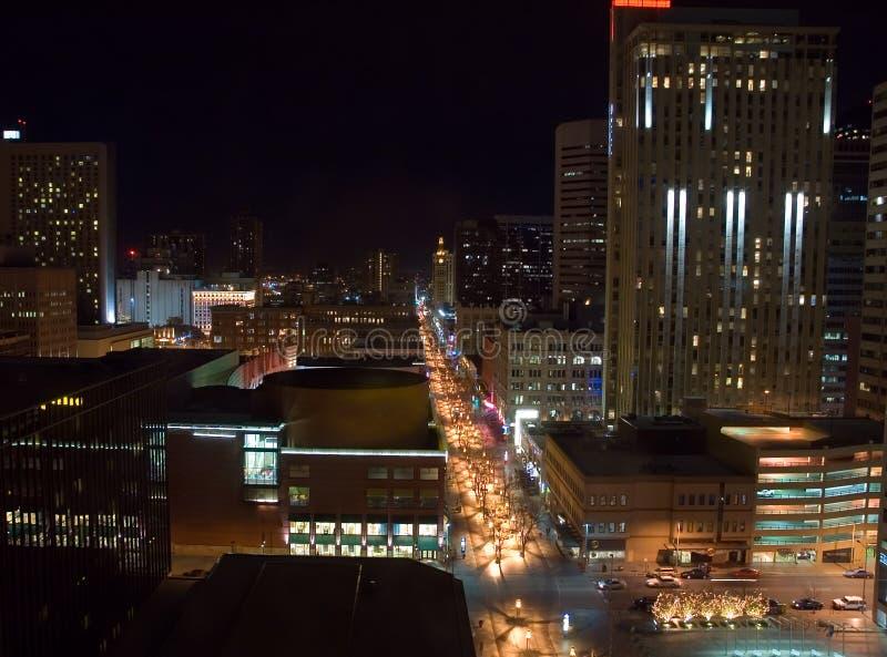 丹佛夜间 库存照片