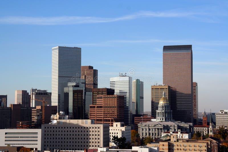 丹佛街市地平线 免版税图库摄影