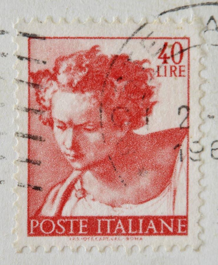 丹尼尔, Sistine的被绘的最高限额的片段 免版税图库摄影