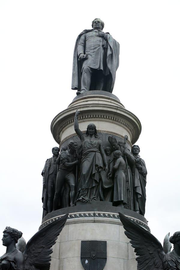 丹尼尔O `康内尔纪念品,都伯林,爱尔兰 免版税库存图片