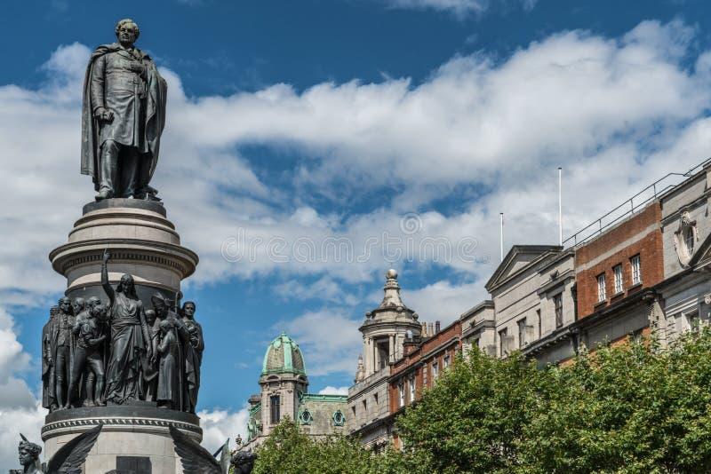 丹尼尔O `康纳雕象在都伯林,爱尔兰 免版税库存图片