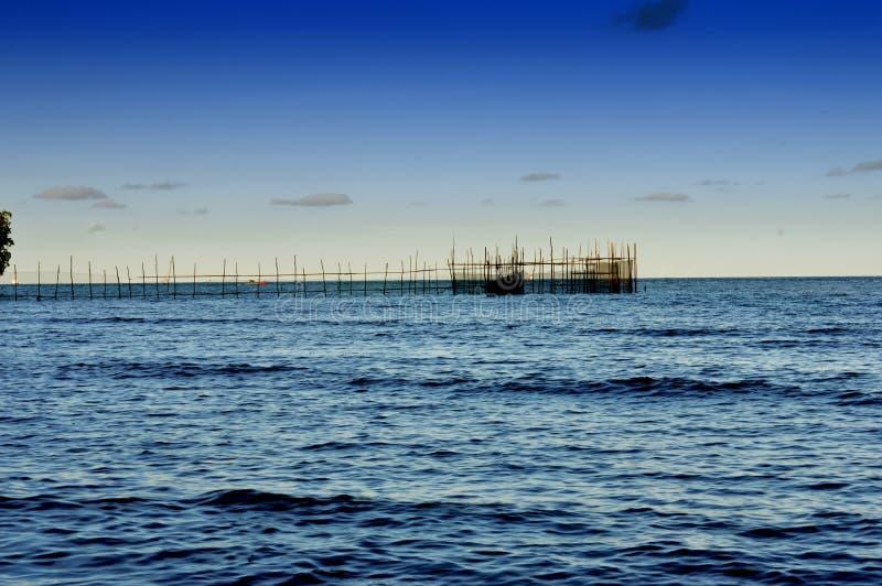 丹戎巴图海滩在Tarakan印度尼西亚 免版税库存照片