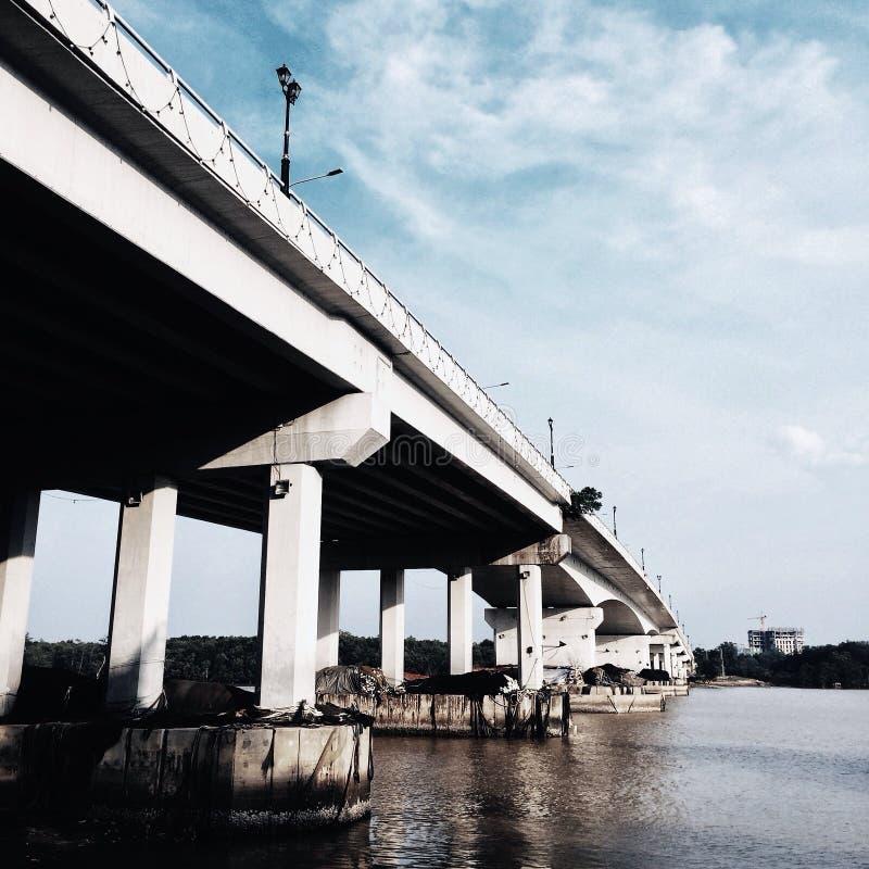 丹戎隆普尔桥梁 免版税图库摄影