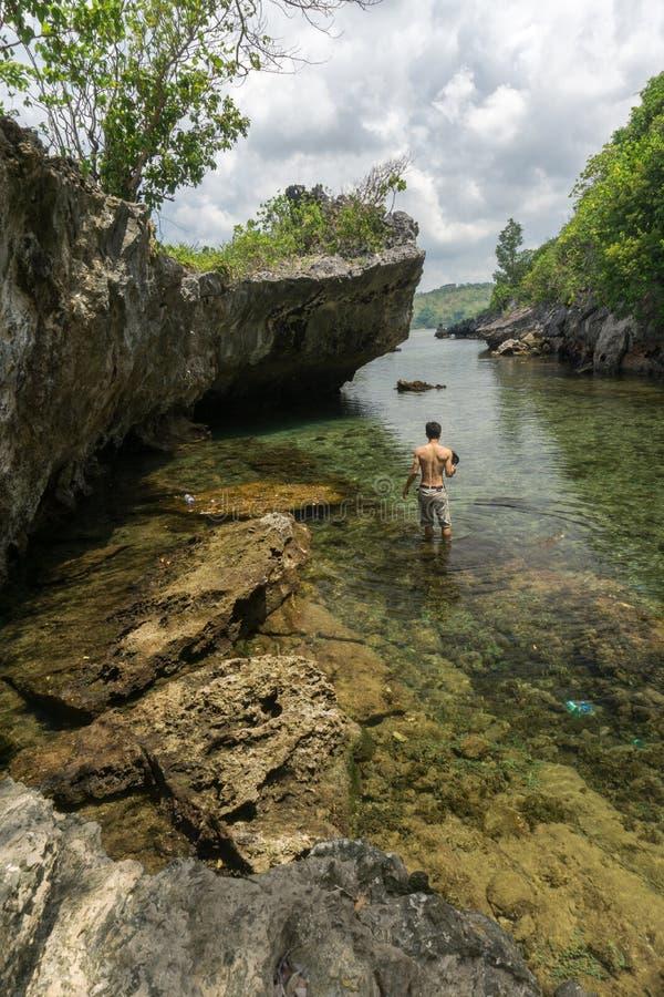 丹戎Gaang巴韦安岛, Gresik,印度尼西亚 库存照片