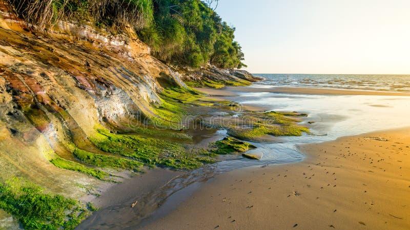 丹戎Lobang海滩 免版税库存照片