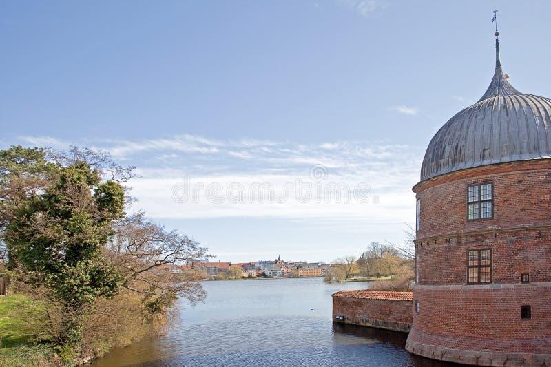丹麦。菲特列堡城堡 免版税库存照片