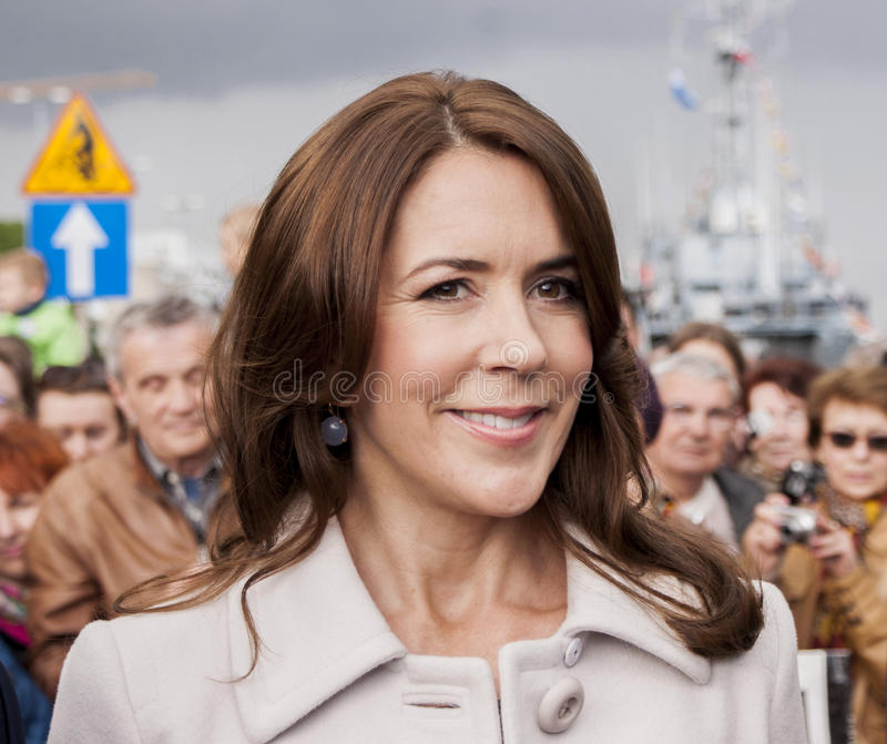 丹麦参观波兰的玛丽公主 库存图片