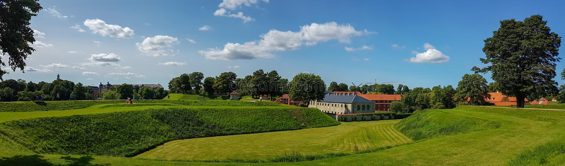 丹麦古老堡垒Kastellet 免版税图库摄影