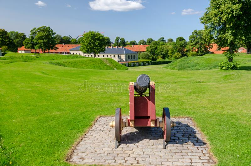丹麦古老堡垒Kastellet 库存图片