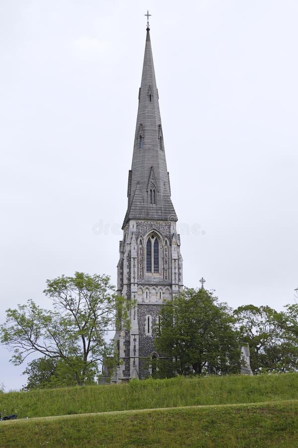 丹麦哥本哈根圣阿尔巴尼斯教堂 免版税图库摄影