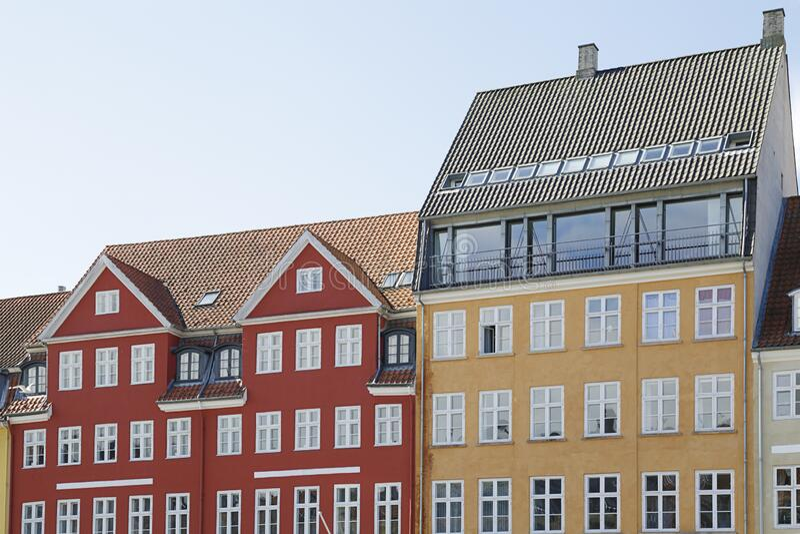 丹麦哥本哈根尼扬运河 免版税库存图片