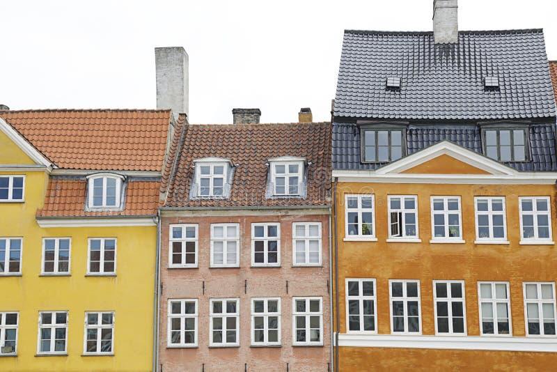 丹麦哥本哈根尼扬运河 库存照片
