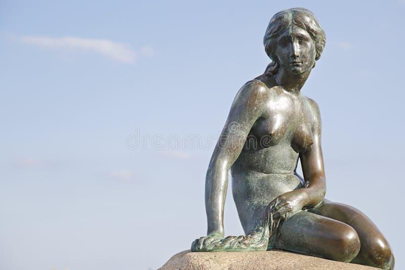 丹麦哥本哈根美人鱼雕像 库存照片