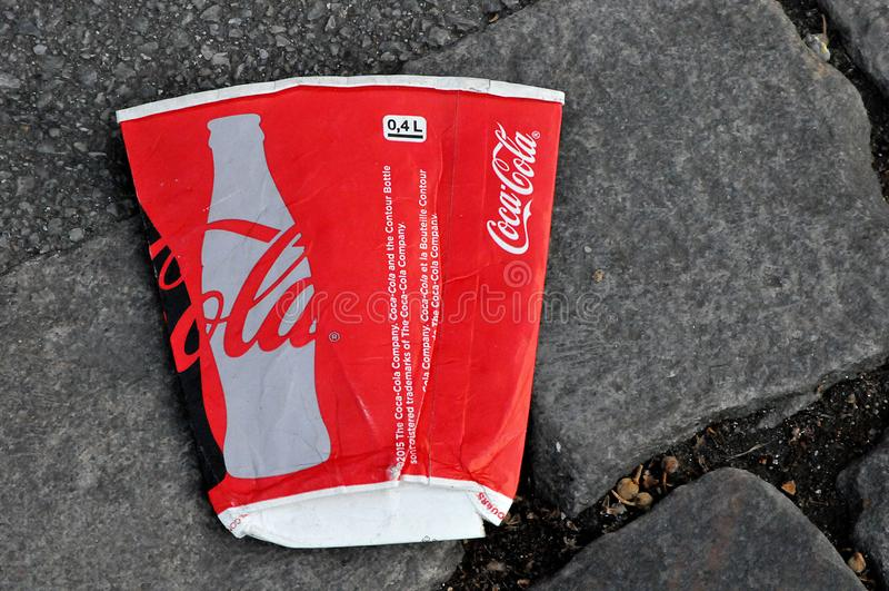 丹麦哥本哈根街可乐公升 免版税图库摄影