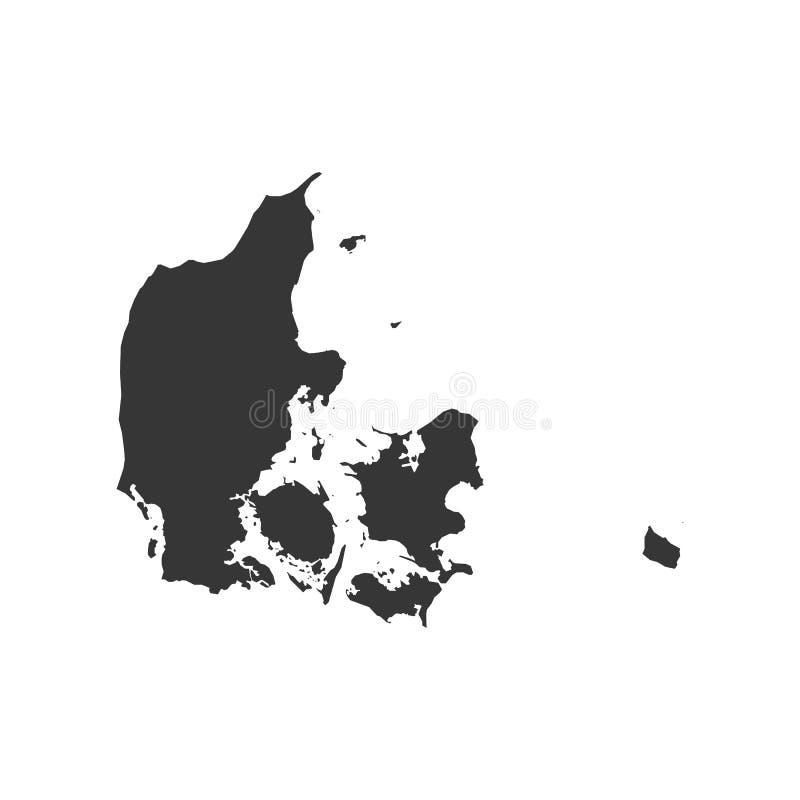 丹麦地图例证 库存图片