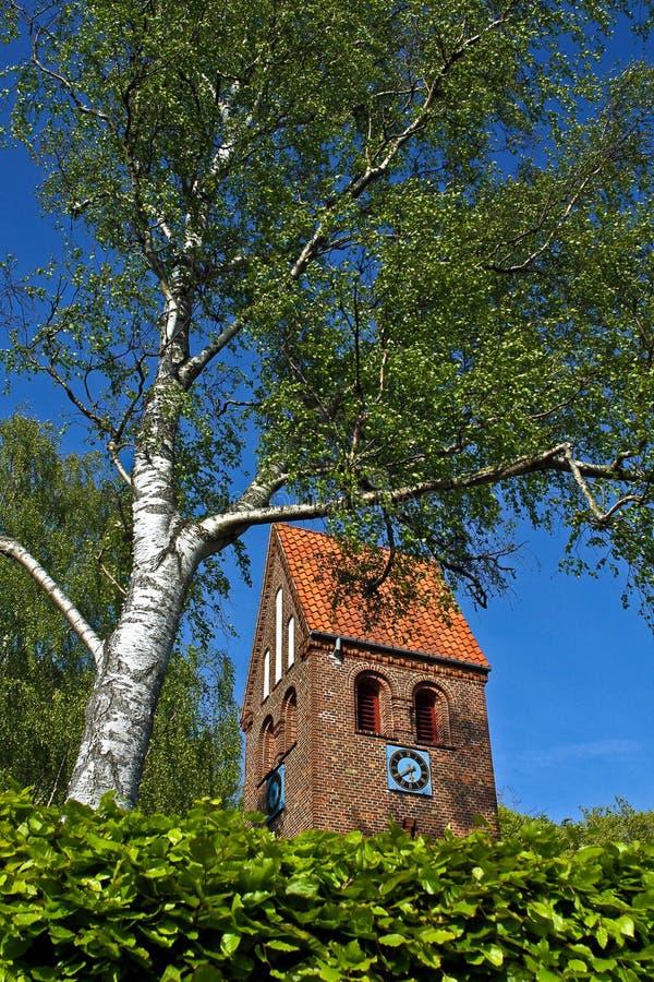 丹麦教堂 免版税图库摄影