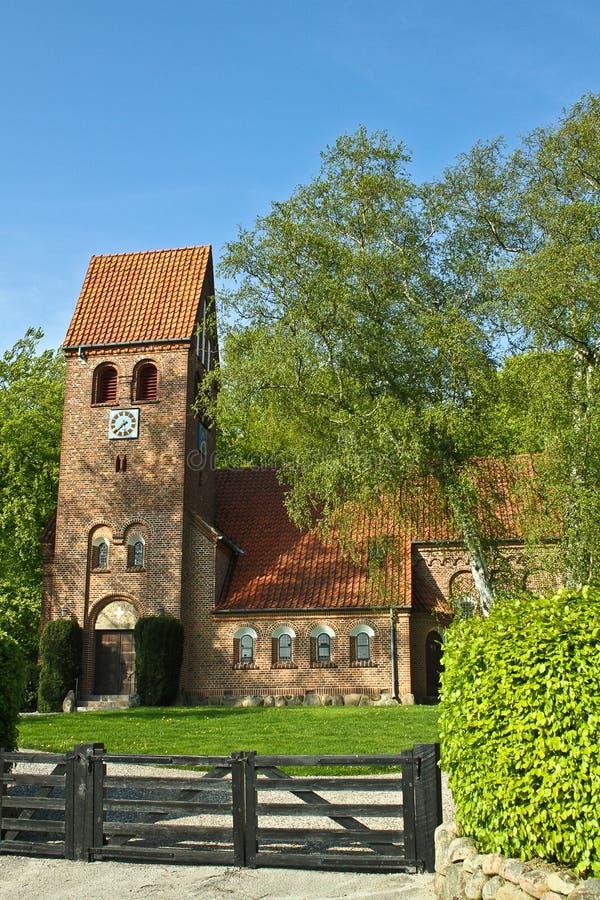 丹麦教堂 免版税库存图片